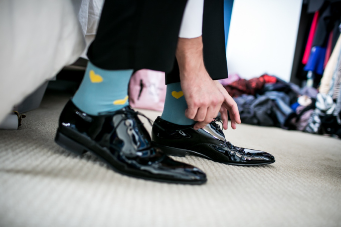 5. Union Station Wedding. Steve Koo Photography. Sweetchic Events. Groom Socks.