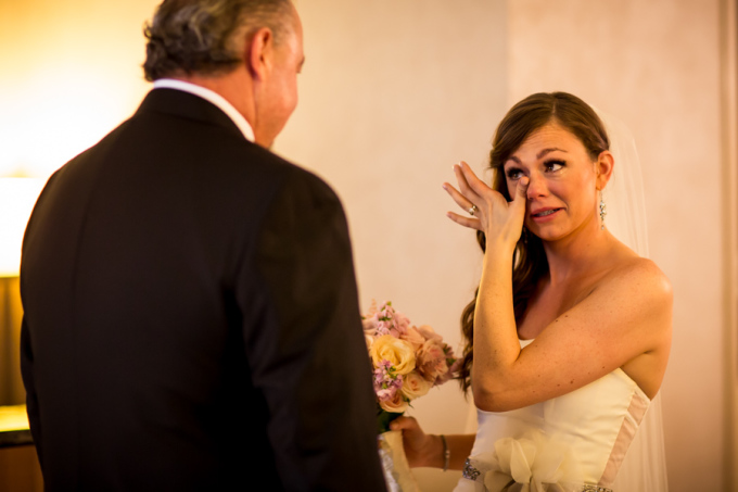 9. Union Station Wedding. Steve Koo Photography. Sweetchic Events. First Look with Father.