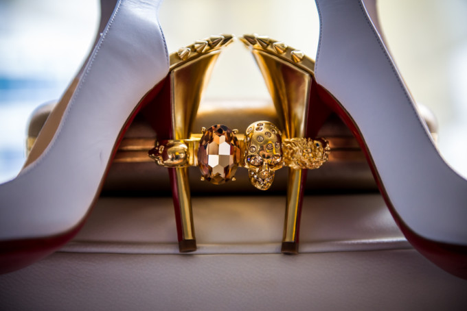 3. Langham Chicago Wedding. Steve Koo Photography. Sweetchic Events. Wedding Shoes. Clutch. Alexander McQueen. Louboutin. Red Bottoms.