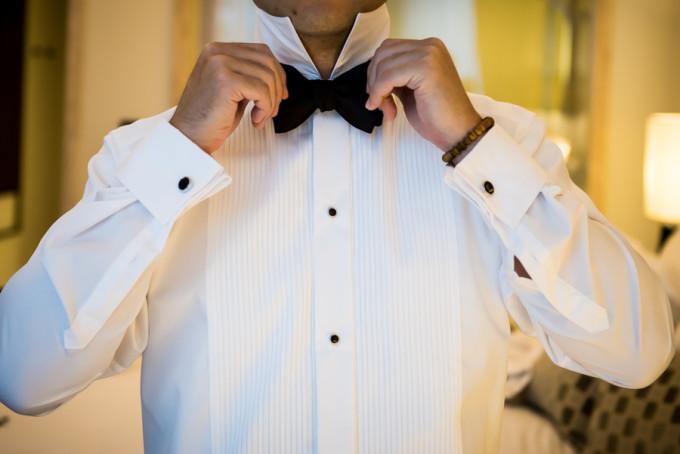 9. Langham Chicago Wedding. Steve Koo Photography. Sweetchic Events. Groom. Tuxedo. Bow Tie.
