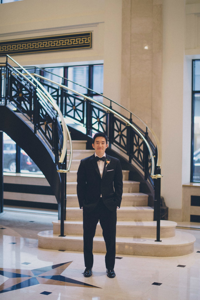 15. Rookery Wedding. This is Feeling Photography. Sweetchic Events. JW Marriott. First Look. Grand staircase.