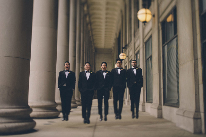 26. Rookery Wedding. This is Feeling Photography. Sweetchic Events. Groomsmen. Jumping