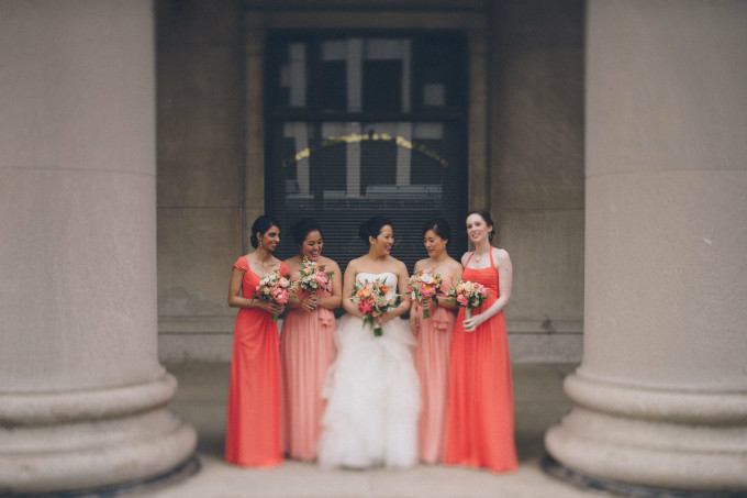 27. Rookery Wedding. This is Feeling Photography. Sweetchic Events. Coral Bridesmaids dresses