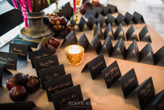 4-langham-wedding-steve-koo-photography-sweetchic-events-vale-of-enna-moody-romantic-wedding-black-escort-cards-metallic-calligraphy