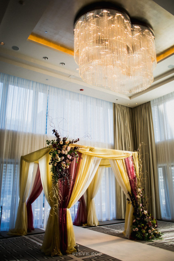 6-langham-wedding-steve-koo-photography-sweetchic-events-vale-of-enna-moody-romantic-wedding-mandap-wine-ceremony