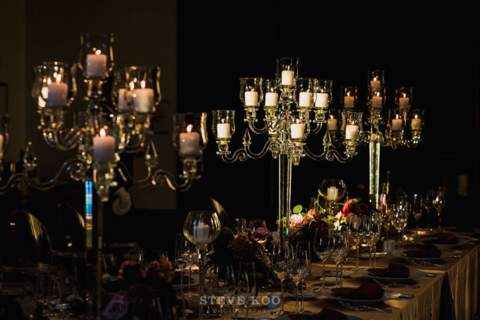 9-langham-wedding-steve-koo-photography-sweetchic-events-vale-of-enna-moody-romantic-wedding-candelabras-still-life-painting-black-wine-rose-gold