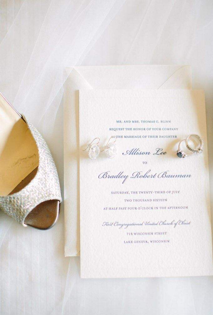 1-lake-geneva-country-club-wedding-lisa-mathewson-photography-sweetchic-events-classic-invitations-bridal-shoes-accessories