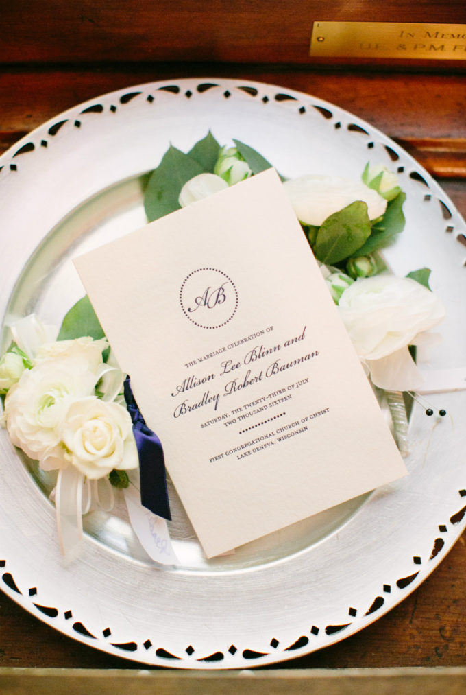 18-lake-geneva-country-club-wedding-lisa-mathewson-photography-sweetchic-events-programs-ceremony-boutonnieres-white-spray-rose