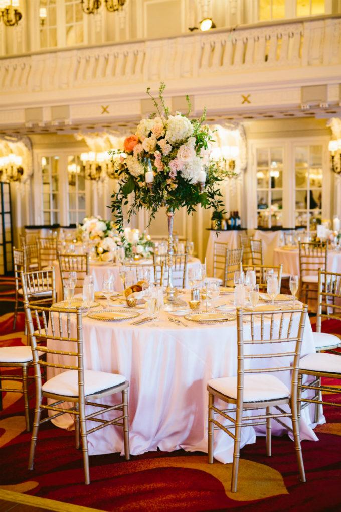 31-blackstone-chicago-wedding-pen-carlson-sweetchic-events-vale-of-enna-centerpiece-tall-candelabra-hydrangea-peony-blush-silver-gold-rose-gold