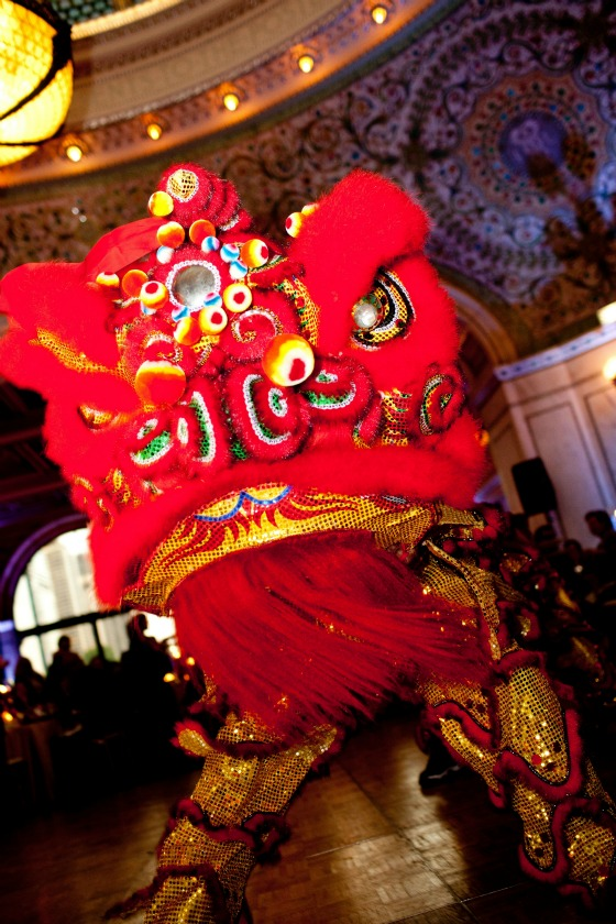 22 Chicago Cultural Center Chinese Indian Wedding chinese dragon dance