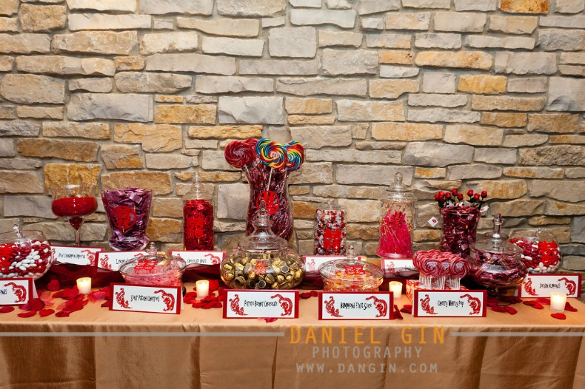 22 Morton Arboretum wedding Dan Gin photography Sweetchic Events red chinese candy table