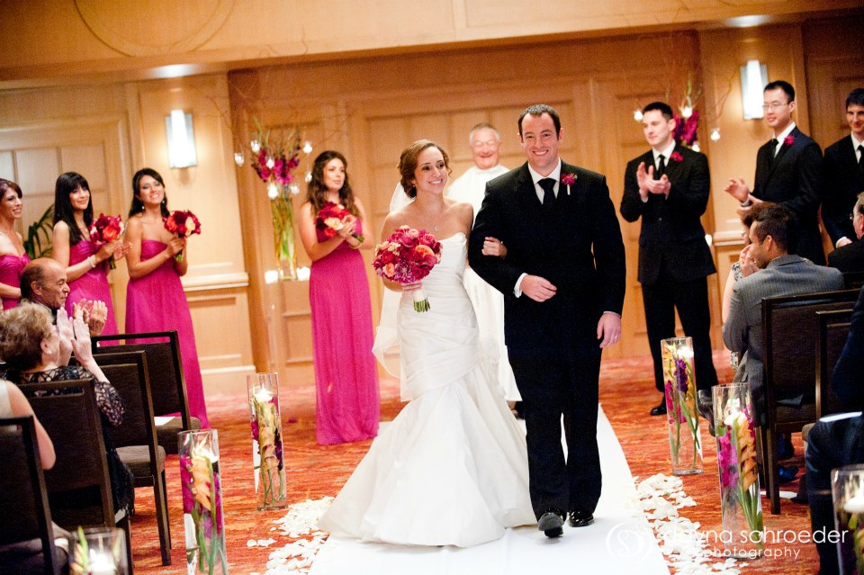 28 Westin River North chicago wedding sweetchic events dayna schroeder ceremony recessional