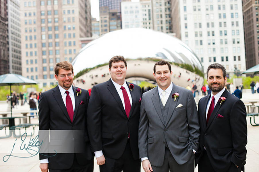 28. Anne. Rick The Rookery. J Wiley Photography. Sweetchic Events. Groom and Groomsmen Millenium Park