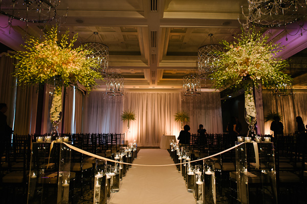 33. Suisui.David.Waldorf Astoria. Pen Carlson Photography. Sweetchic Events. Vale of Enna. Floating Candle Aisle Decor. White and Blush Dendrobium Ceremony Decor.