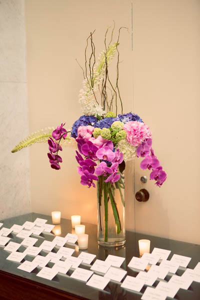 34. Alicia & Kris. Newberry Library Wedding. iLuvPhoto. Sweetchic Events. Fluer. Orchids. Hydrangea. Peonies. Escort Card Table.