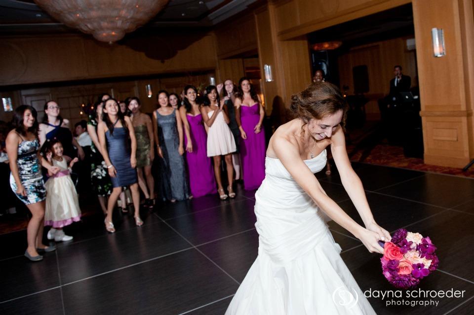 43 Westin River North chicago wedding sweetchic events dayna schroeder bouquet toss