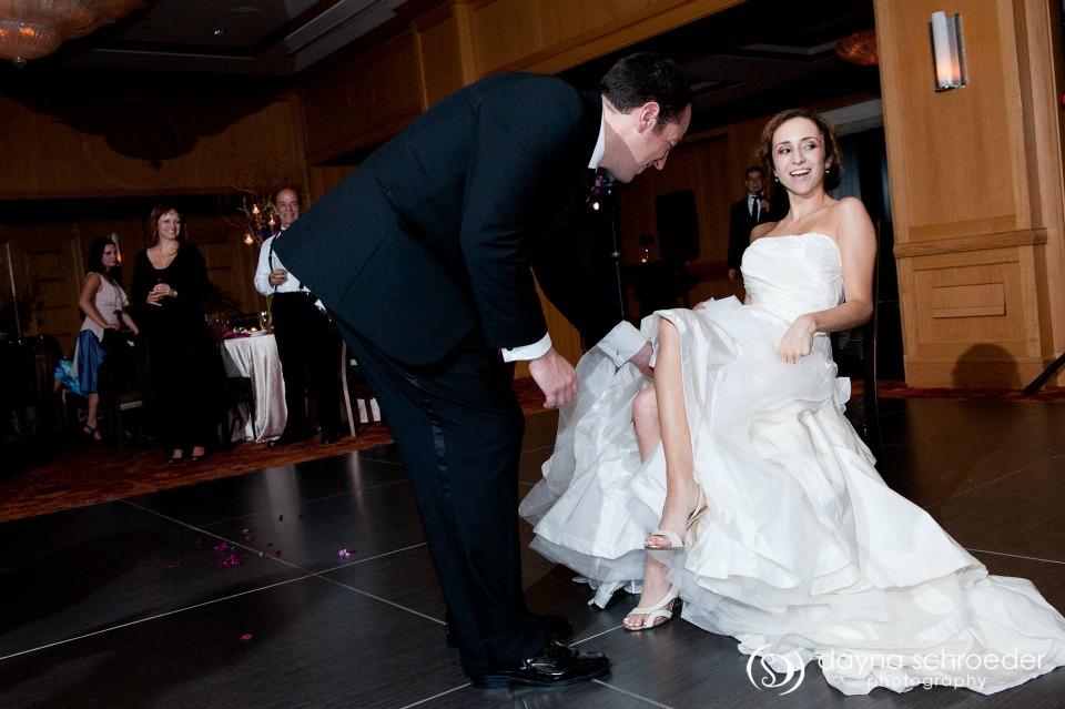 44 Westin River North chicago wedding sweetchic events dayna schroeder garter toss
