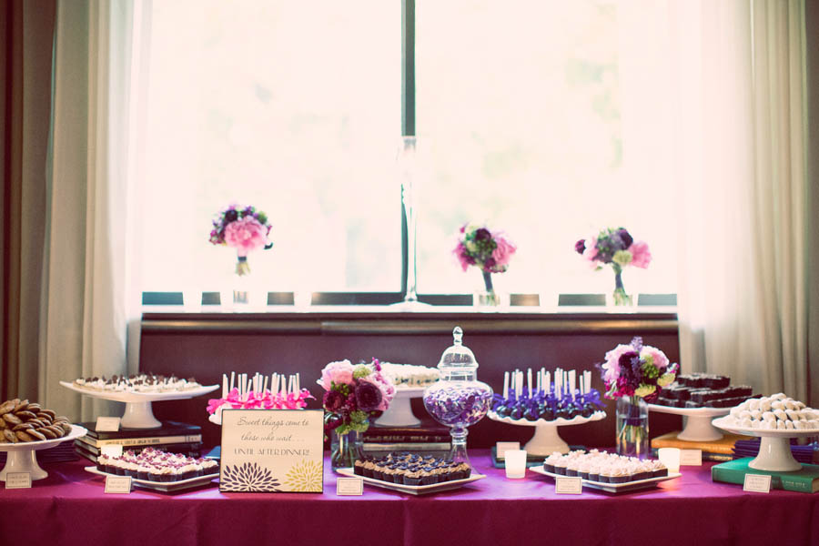 44. Alicia & Kris. Newberry Library Wedding. iLuvPhoto. Sweetchic Events. Dessert Table