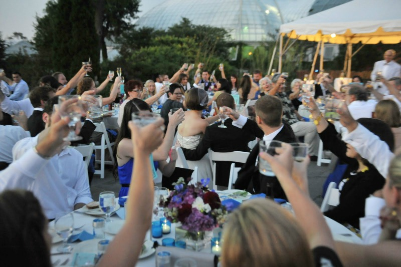 6 Garfield Park Conservatory Wedding Sweetchic Peter Coombs toasts