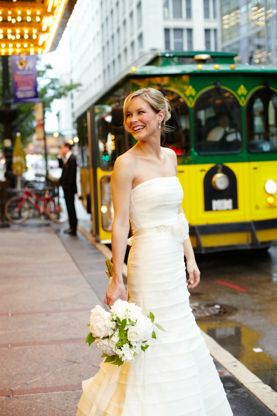 6 Sweetchic Brian Kinyon chicago Rookery wedding trolley
