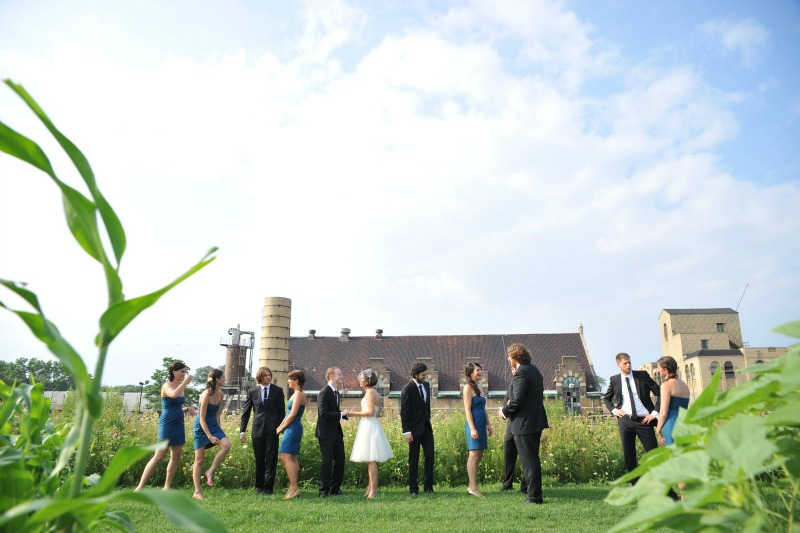7  Garfield Park Conservatory Wedding Sweetchic Peter Coombs Bridal Party