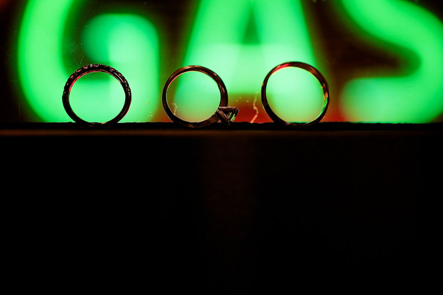 Chicago History Museum. Steve Koo Photography. Sweetchic Events. Ring Shot. Neon Sign