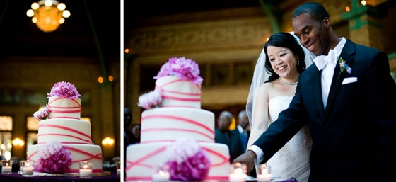 Chin Stephen Cafe Brauer Chicago wedding purple blue Sarahs Pastries cake cutting Scarlet Petal Yazy Jo Sweetchic Events