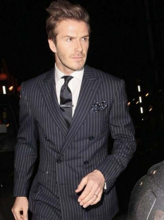 David Beckham Pocket Square Tie Clip via  BuyOnineFashion
