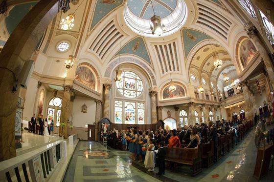Holy Innocents Church Chicago wedding ceremony 2