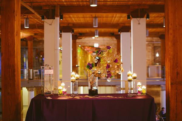 Karen.Boris.River East Art Center. Fragola Productions. Sweetchic Events. Manzania Wish Tree Table.