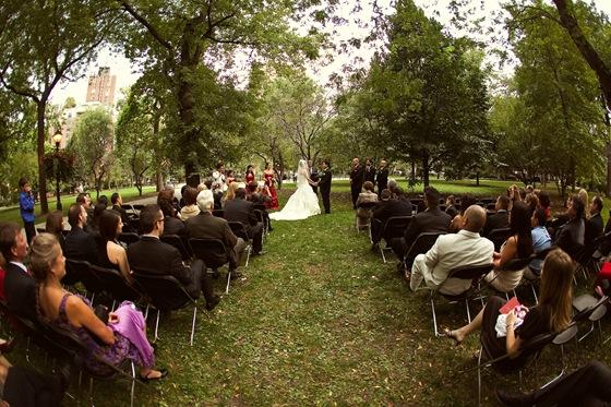 Newberry Library wedding ceremony Washington Square Park Secondprint productions
