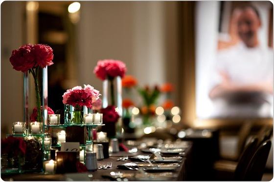 Pink fuchsia chocolate tablescape peonies roses daisies Artstar Photo 3