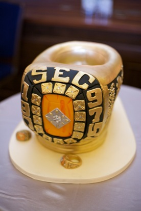 SEC rings Grooms Cake Amy Beck Cake Design Artisan Events