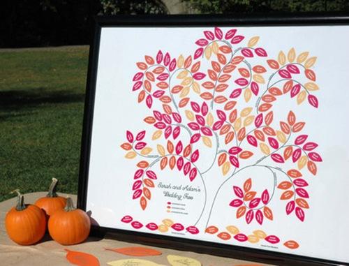 Wedding tree genealogy chart