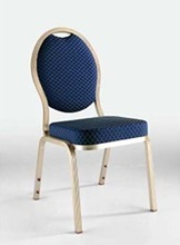 banquet chair blue pattern