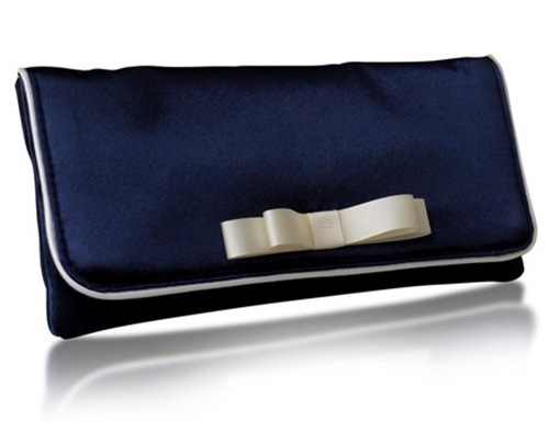 darcy_navy_clutch with white bow