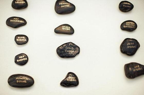 escort card table black rocks