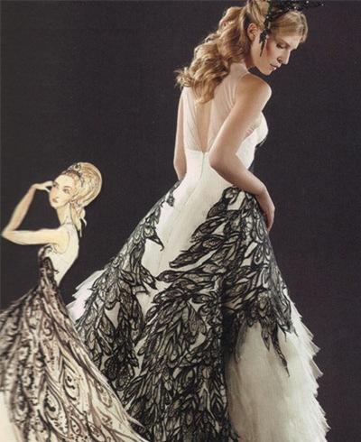 fleur delacour alexander mcqueen wedding dress  Source