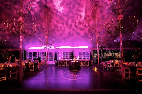 galleria marchetti wedding purple uplighting gobo sweetchic steve koo