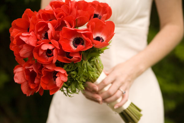 Red Anemone Bouquet via  Chiaroscuro