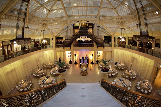 rookery building wedding chicago 2