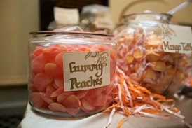 sweets table peach gummys taffy sweetchic events