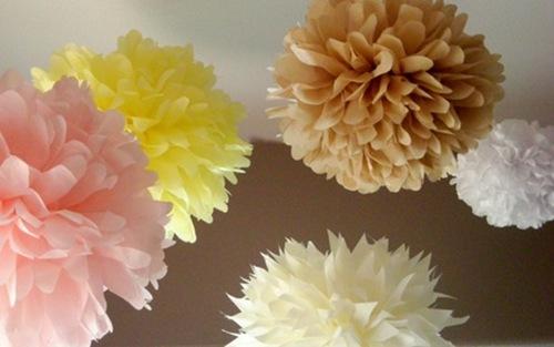 tissue paper poms