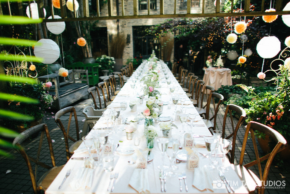 12. A New Leaf Wedding. Tim Tab Studios. Sweetchic Events. Intimate Garden Wedding. Hanging Lanterns. Feasting Table. Collection Centerpieces. Soft Pallette.jpg