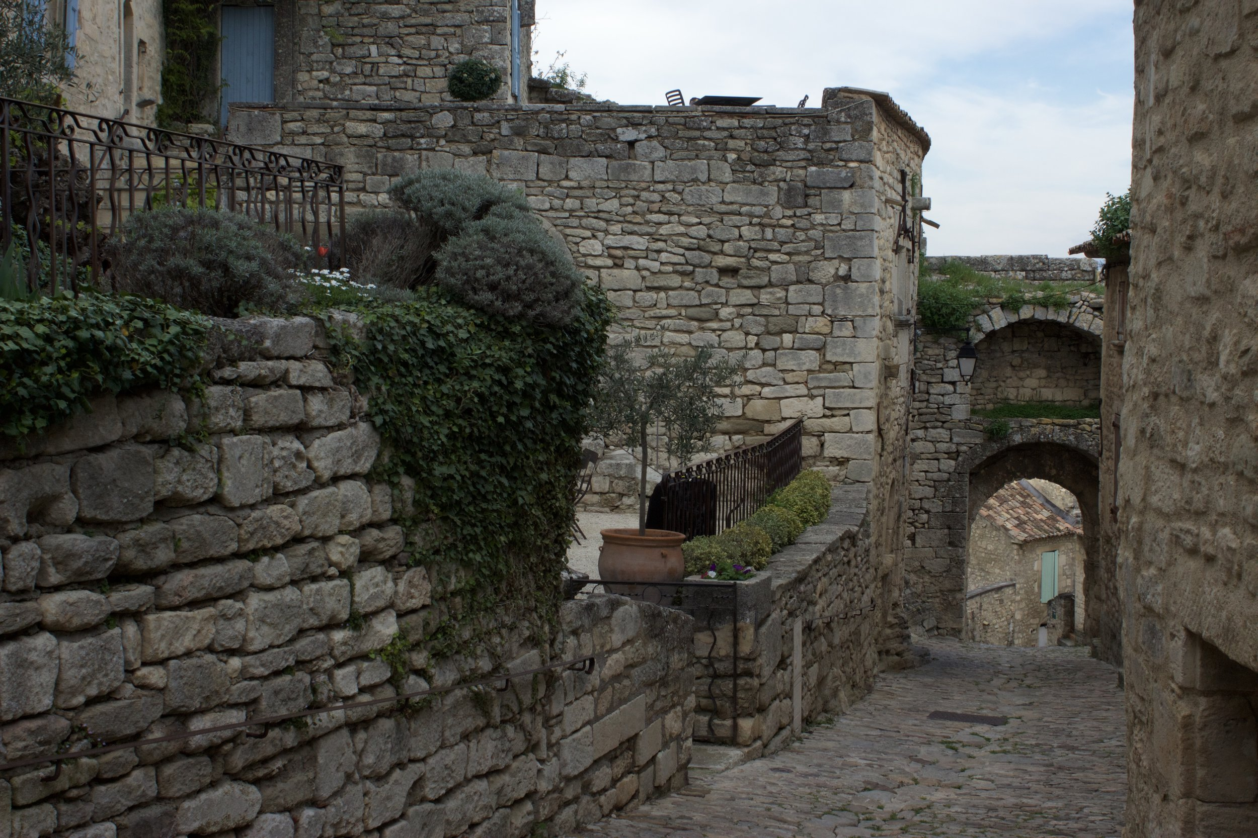 The road to my apartment in Lacoste, France!