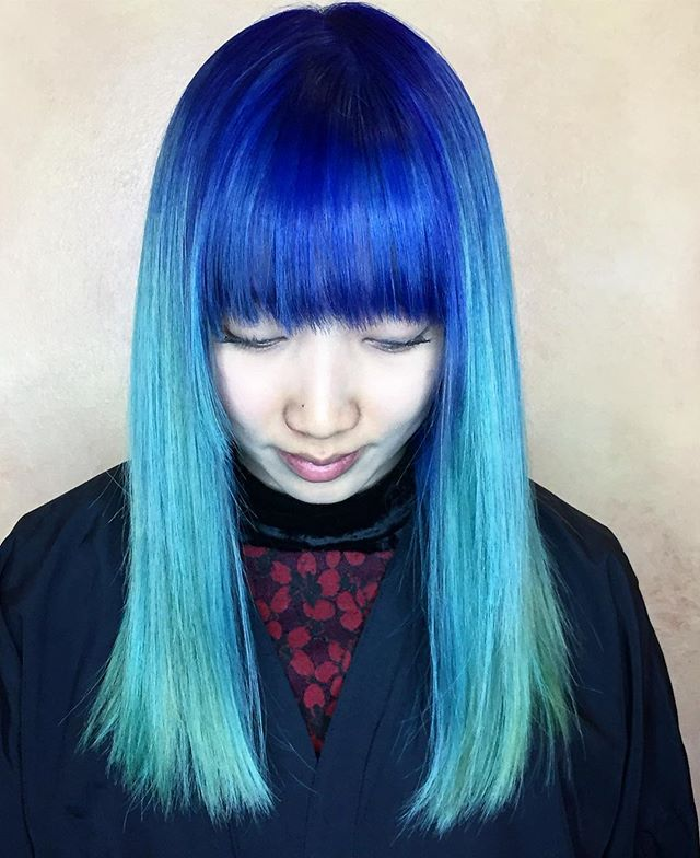 I work all day for this beauty! From virgin hair to #blue #teal #colormelt #colorbygary #schwarzkopfusa #schwarzkopfpro #igoracolorworx #sfhair