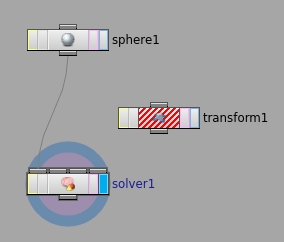 연결한 뒤에 'solver1' 노드의 Display Flag 를 클릭하도록 한다.