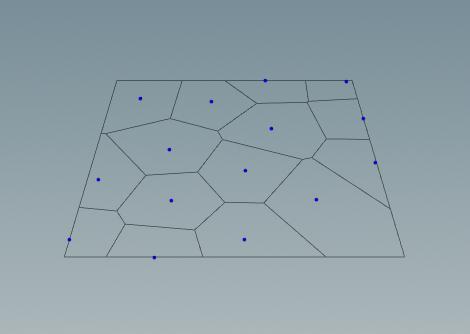 두번째 인풋인 Voronoi Cells 과 분할된 면들의 관계를 잘 살펴본다.
