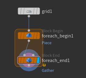 연결한 뒤에는 'foreach_end1' 노드의 Display Flag 를 선택한다.