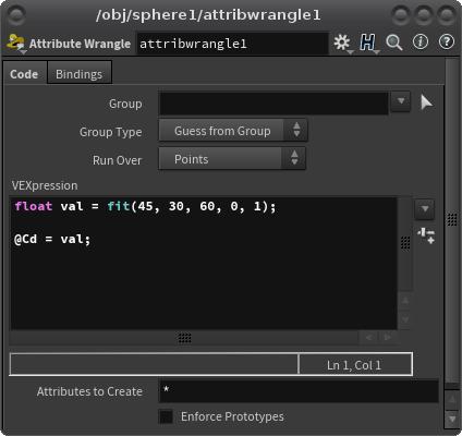VEXpression 칸에 입력하는 동안은 결과를 볼수 없다. 마우스 커서를 VEXpression 칸 밖으로 이동시켜 클릭해야 입력된 VEX 가 적용된다. 바로 결과를 볼 수 있는 단축키는 Ctrl + Enter 이다.